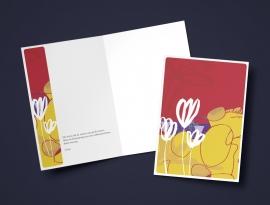 Steun: Witte bloemen / A5 formaat