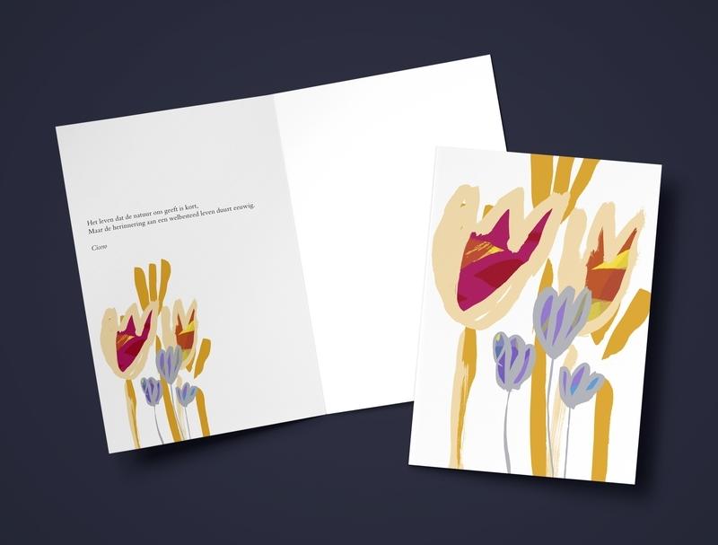 Steun: Bloemen kleur / A5 formaat