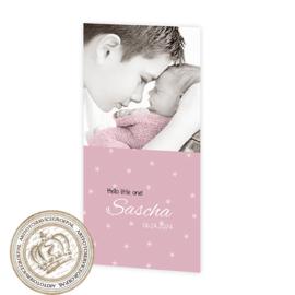 Geboortekaartje LG308 Pink