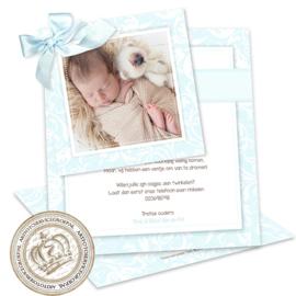Geboortekaartje LC072 DS Blue