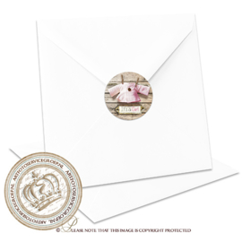 Sluitzegel Geboortekaartje SLZ025 Pink