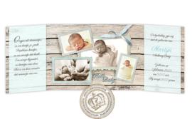 Geboortekaartje LC912 DD Blue