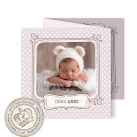 Geboortekaartje LG017 FC3 Pink