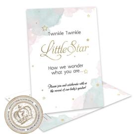 Twinkle, twinkle - Gender Reveal Invites (E)