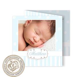 Geboortekaartje LG706 FC3 Blue