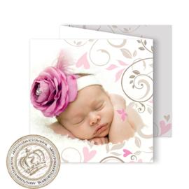 Geboortekaartje LG709 FC3 Pink