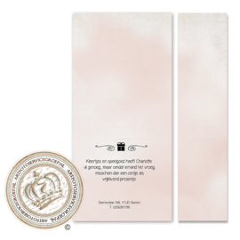 Geboortekaartje met fotostrip LG082 Pink