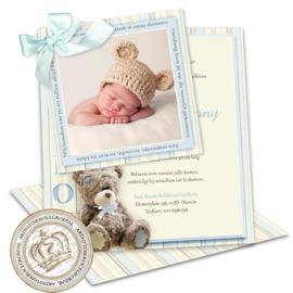 Geboortekaartje LG038 DS Blue