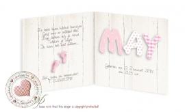 Geboortekaartje LC007 Pink