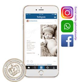 Social Media Geboortekaartje IGBL754 B