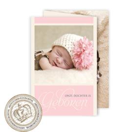 Geboortekaartje LG338 FC3 Pink