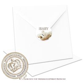 Sluitzegel Geboortekaartje SLZ06 Boy