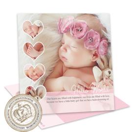 Geboortekaartje LG171 Pink