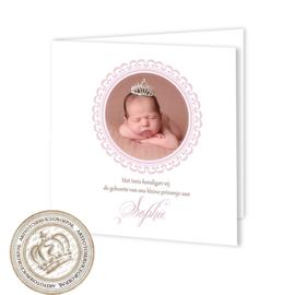 Geboortekaartje LG169 FC2 Pink