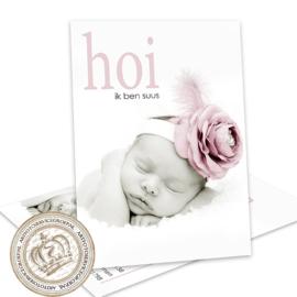 Geboortekaartje LG942 Pink
