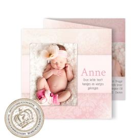 Geboortekaartje LG299 FC3 Pink