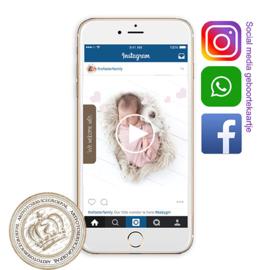 Social Media Geboortekaartje IGBL227 Pink