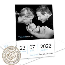Geboortekaartje LG482 Blue