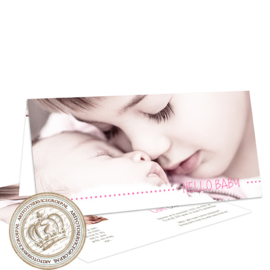 Geboortekaartje LG381 FC2 Pink
