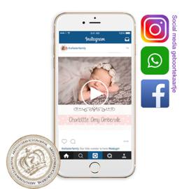Social Media Geboortekaartje IGBL 945 P