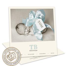 Geboortekaartje LC037 Boy (met strik)