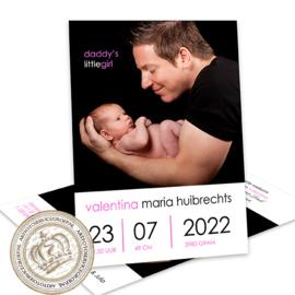 Geboortekaartje LG482 Pink