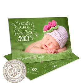 Geboortekaartje LG831 Pink