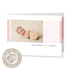 Geboortekaartje LG509 FC2 Pink