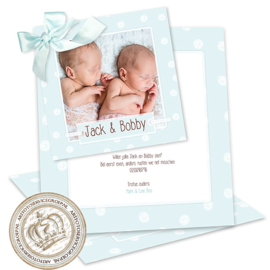 Geboortekaartje LG395 DS Blue
