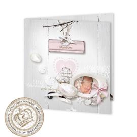 Geboortekaartje LG379 FC2 Pink