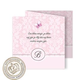 Geboortekaartje LG142 FC3 Pink