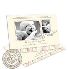Geboortekaartje LG054 Pink