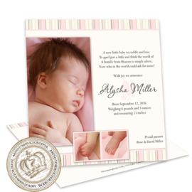 Geboortekaartje LG166 Pink