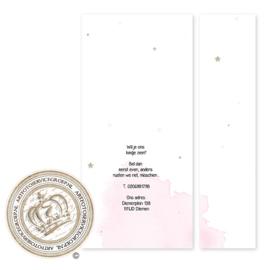 Geboortekaartje met fotostrook LG322 Pink