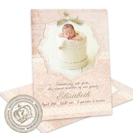 Geboortekaartje LG241 Pink