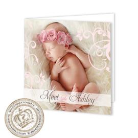 Geboortekaartje LG754 FC2 Pink
