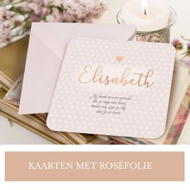 Laat je kaart bedrukken met Roséfolie