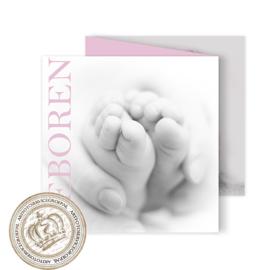 Geboortekaartje LG803 FC3 Pink