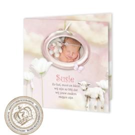 Geboortekaartje LG120 FC2 Pink