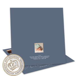 Geboortekaartje LG052 Blue