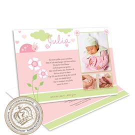 Geboortekaartje LG141 Pink