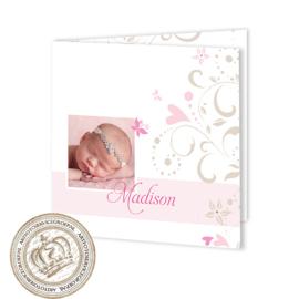 Geboortekaartje LG454 FC2 Pink