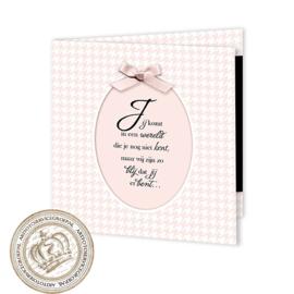 Geboortekaartje LG047 FC2 Pink