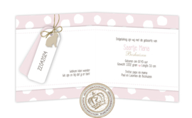 Geboortekaartje LC293 FC2 Pink