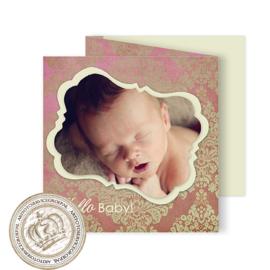 Geboortekaartje LG934 FC3 Pink