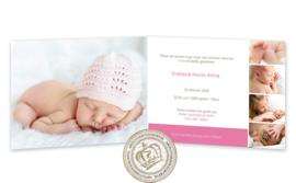 Geboortekaartje LG002 FC2 Pink