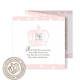 Geboortekaartje LG686 FC3 Pink
