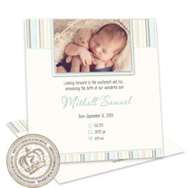 Geboortekaartje LG170 Blue