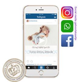 Social Media Geboortekaartje IGBL 945 B