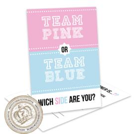 Team pink or Blue -  Gender Reveal Invites (E)